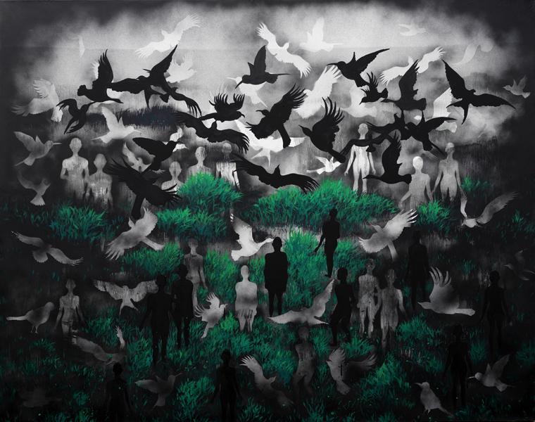《变异的风景》160×200cm 布面油画 2016.jpg