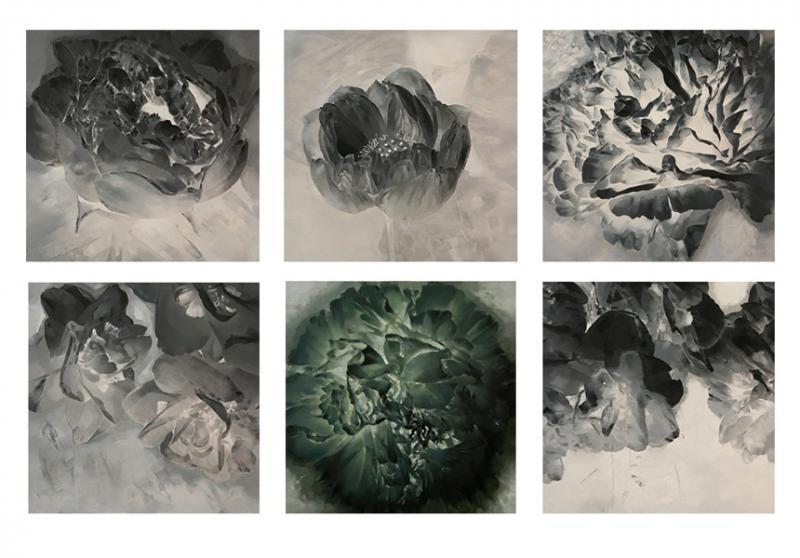 李晓峰(暗香)系列 65x65cmx6 布面油画 2009.jpg
