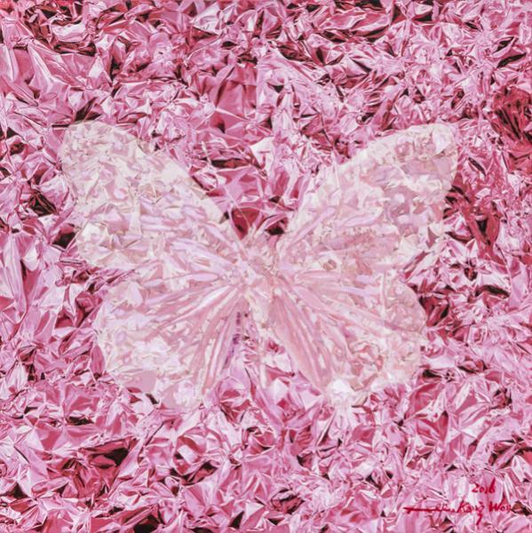 《Light - Fold - Butterfly No.2》80×80cm 布面油画 2016.JPG