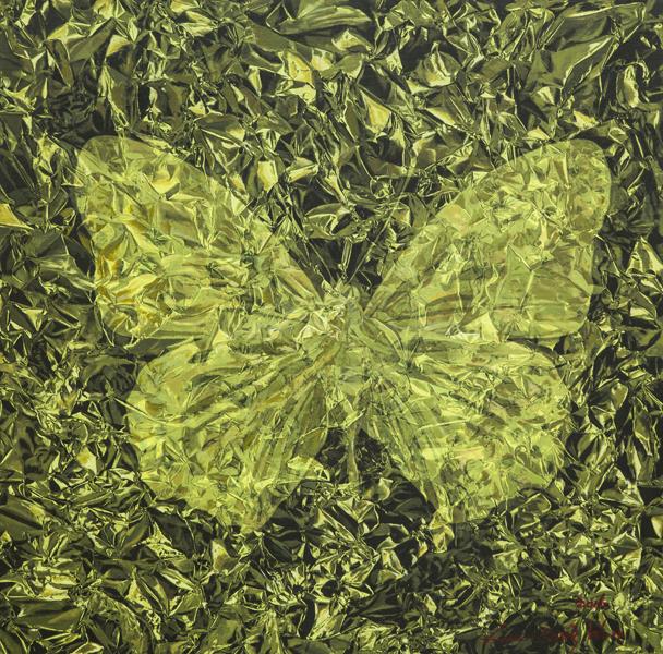 《Light - Fold - Butterfly No.3》80×80cm 布面油画 2016.JPG