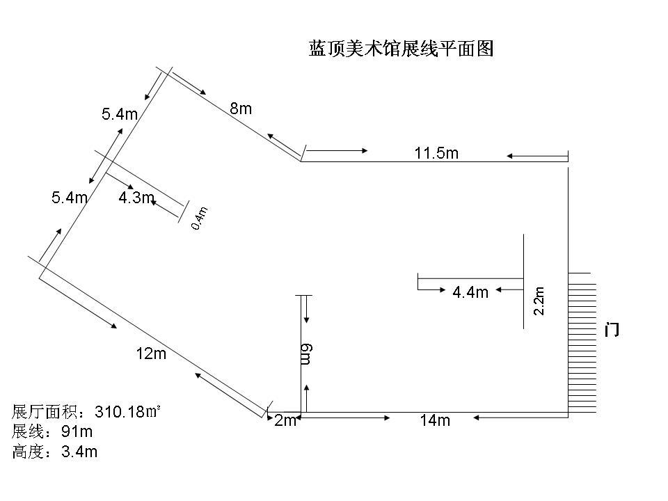 老馆展线平面图