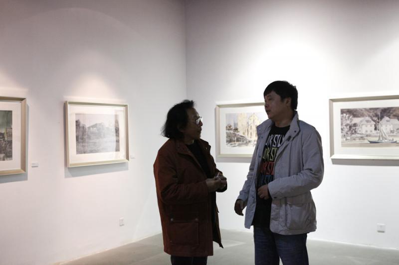 6川音美术学院院长马一平老师与蓝顶美术馆馆长金延先生