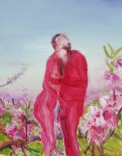 周春芽 夕阳无限 250×200 布面油画 2006